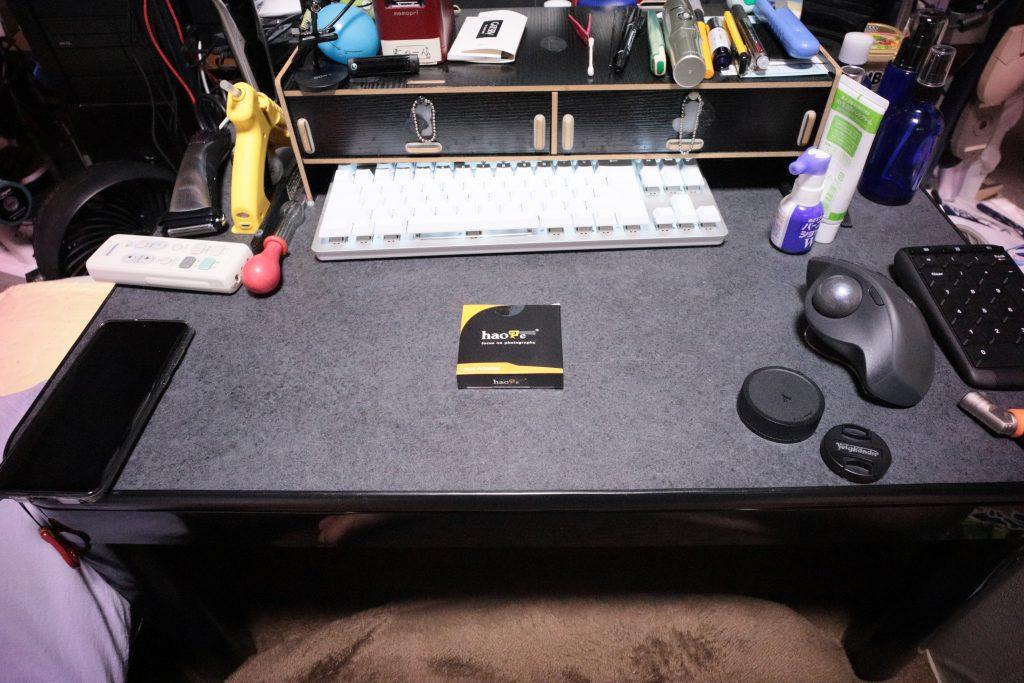 Haoge マニュアルマクロクローズフォーカスレンズマウントアダプタ Leica M LM Zeiss ZM Voigtlander VMレンズからキャノンRFマウントカメラ用 Canon EOS R用 箱